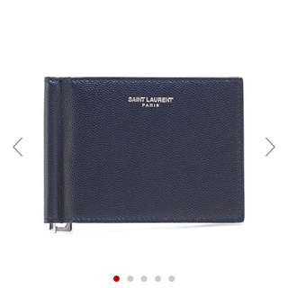Saint Laurent ysl mens two fold wallet 銀包 100% new