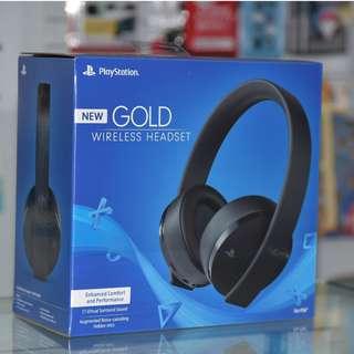 全新 PS4/ PS3/ PC 三用 SONY 新金裝 PS4 NEW GOLD Wireless Headset 7.1 耳機 (美版)- 支援 Switch Monster Hunter World必備