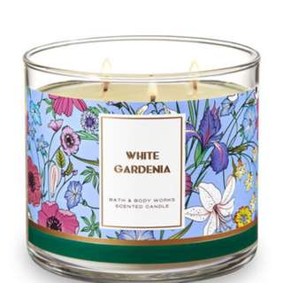 Bath & Body Works 3 Wick Candles White Gardenia