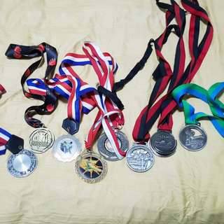 Medals of Karate, taekwondo and Running