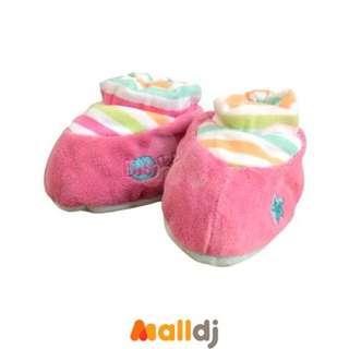 全新✨DOUDOU 法國娃娃~條紋粉紅寶寶鞋