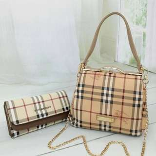 BURBERRY SLING 2298 SET PURSE