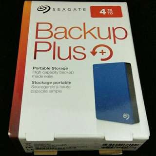 Seagate Backup Plus 4 TB - Blue