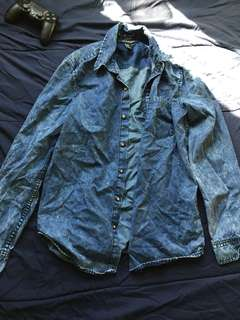 F21 Distressed Denim shirt