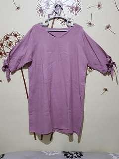 Preloved V Neck Midi Dress