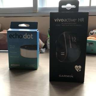 Garmin Vivoactive HR / Amazon Echo Dot BNIB