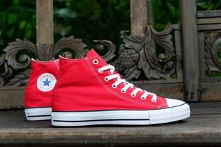 Converse original ct as hi top red canvas murah