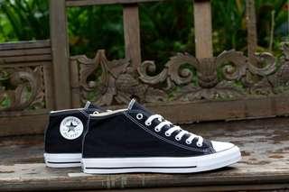 Converse original ct mid clean black murah
