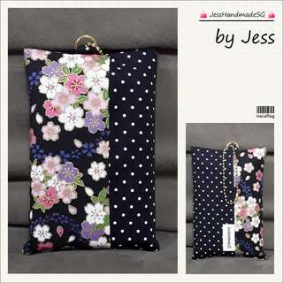Handmade Pocket Tissue Holder / Pouch【 FREE NON-REGISTERED MAIL + BEAN CHAIN 】
