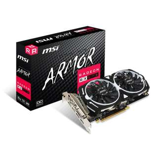 MSI 全新有單 RX570 行貨有保 RADEON RX 570 ARMOR 8G OC GRAPHICS CARD