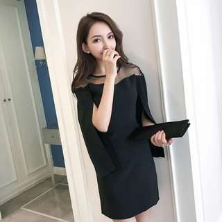 Naomi Shrugged Sleeve Shoulder Dress