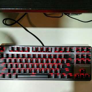 Tecware Phantom 87 Outemu Blue, Red LED Mechanical Keyboard