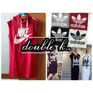 Adidas & Nike Dress with Hoodie