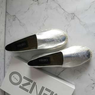 Kenzo Slip on Silver Size 37