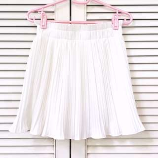 🌸White Accordion Pleat Highwaist Skirt