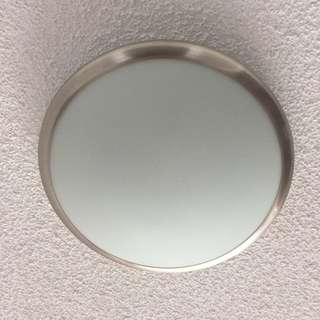 Round White Glass Ceiling Light