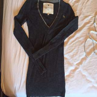 Abercrombie+Fitch knit sweater MED charcoal grey