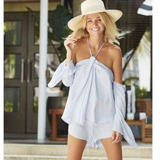 Bec and bridge blue haze playsuit