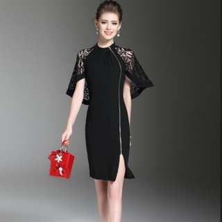 [PO] Batwing Cocktail Lace Dress (6)