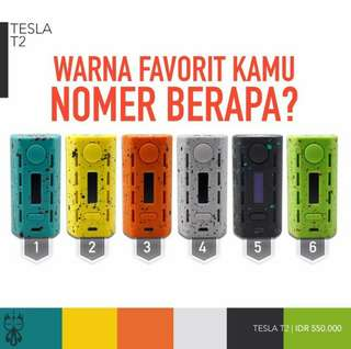 Turun Harga!!! Mod Tesla T2 200w Authentic Mod only