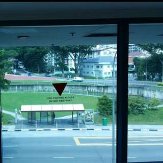 Clean central mall shop/ office with river view free aircon for rent