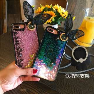 PO Bunny Ear Quicksand iPhone Casing