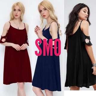 OPEN SHOULDER TEE SHIRT DRESS