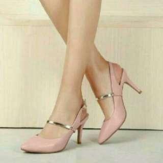 Heels OG03 Salem/Hitam/Pink