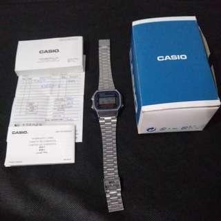 Original Casio A-168 Retro Style Digital Watch