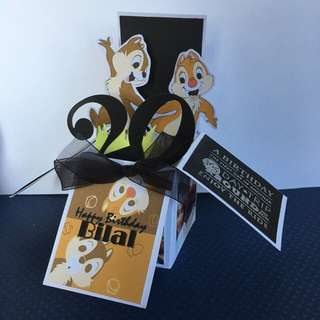 Chip and dale birthday box card