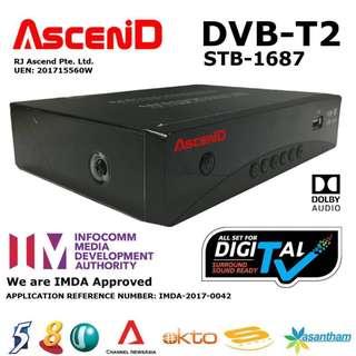 BNIB Ascend DVB-T2 Set-Top Box (STB-1687)
