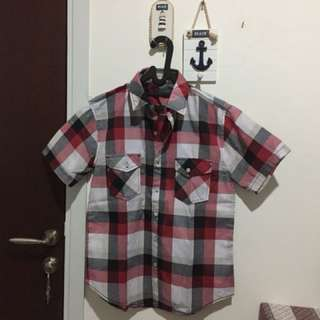 Toliver Red Checkered Shirt