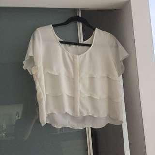 Aritzia crop blouse