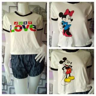 Just love/Mickey and Minnie mouse