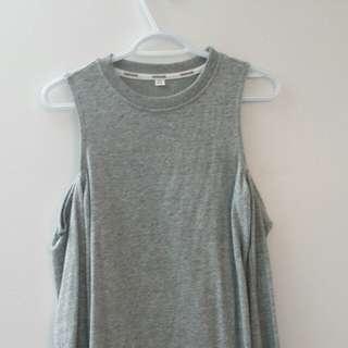 Grey Cold Shoulder dress
