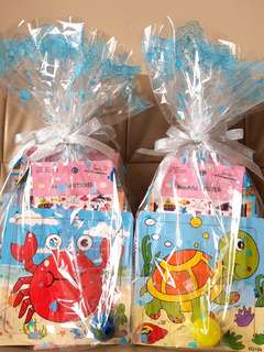 Birthday Goodie Bags for Kids-Jigsaw+Craft+Ball+Sticker