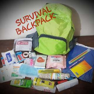 On-Hand Survival Backpack with FREE survival bracelet!