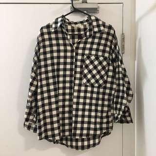 Cozy Black Plaid Shirt
