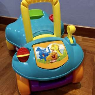 Playskool convertible walker and car