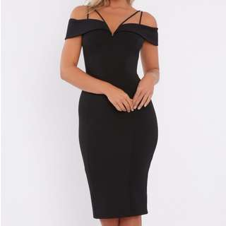 CALLI. New Ada Off Shoulder Black Dress Size 6