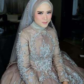 Made to order XXS TO XXXXXL or custom measurements. custom color combinations. add veil, hijab. whatsapp +65 83052781