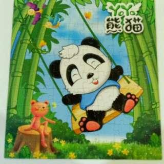 Panda floor puzzle 100 pcs