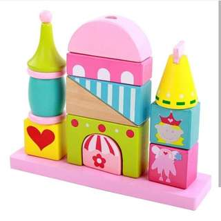 12psc wooden block princess