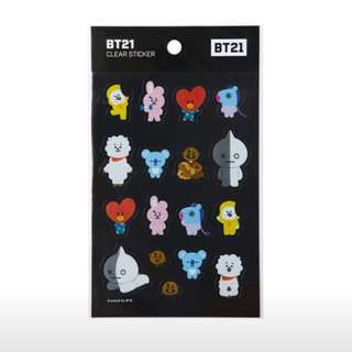 Bt21 transparent stickers bts kpop line