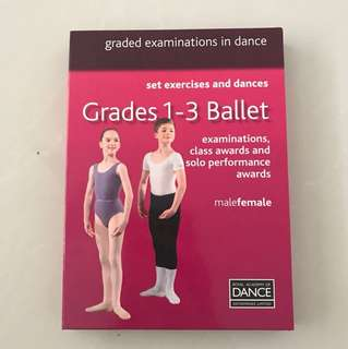 Royal Academy of Dance RAD Grades 1-3 Ballet examinations, class awards and solo performance awards set exercises and dances DVD