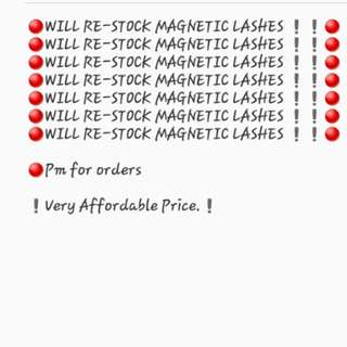 RE STOCK!! MAGNETIC LASHES!!