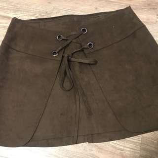 韓國俏麗短裙,絨布,M號,長37cm
