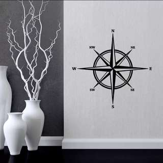 🏁Compass pattern wall stickers living room bedroom carved stickers can be removed Home decor