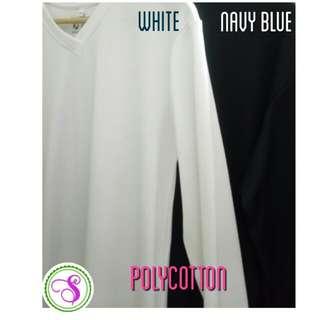 Polycotton Long Sleeves T Shirt