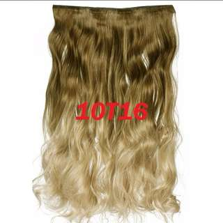 Sales📣 Ombre Ash light Brown Blonde 5 Clips Curly Hair Extensions